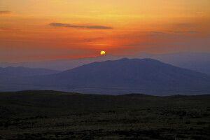 Sonnenaufgang am Aragats