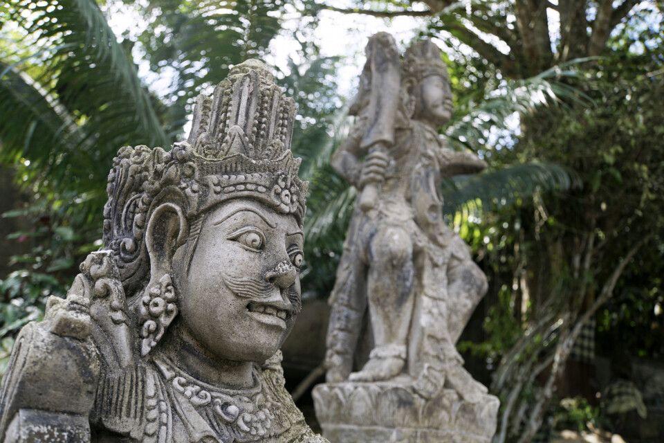 Tempelwächter in Tirta Empul