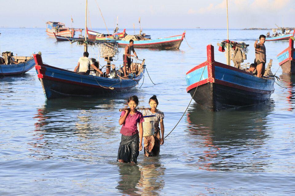 Fischer am Morgen bei Jadetaw