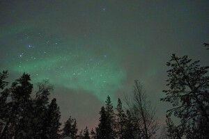 Mystischer Nordlichtschleier