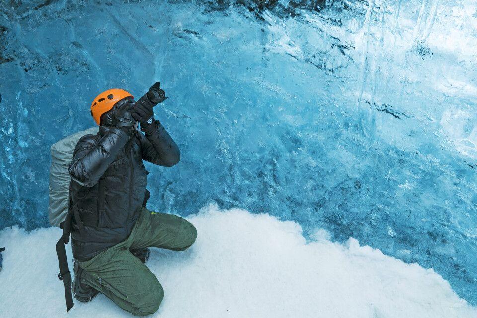 Fotografieren in einer Eishöhle
