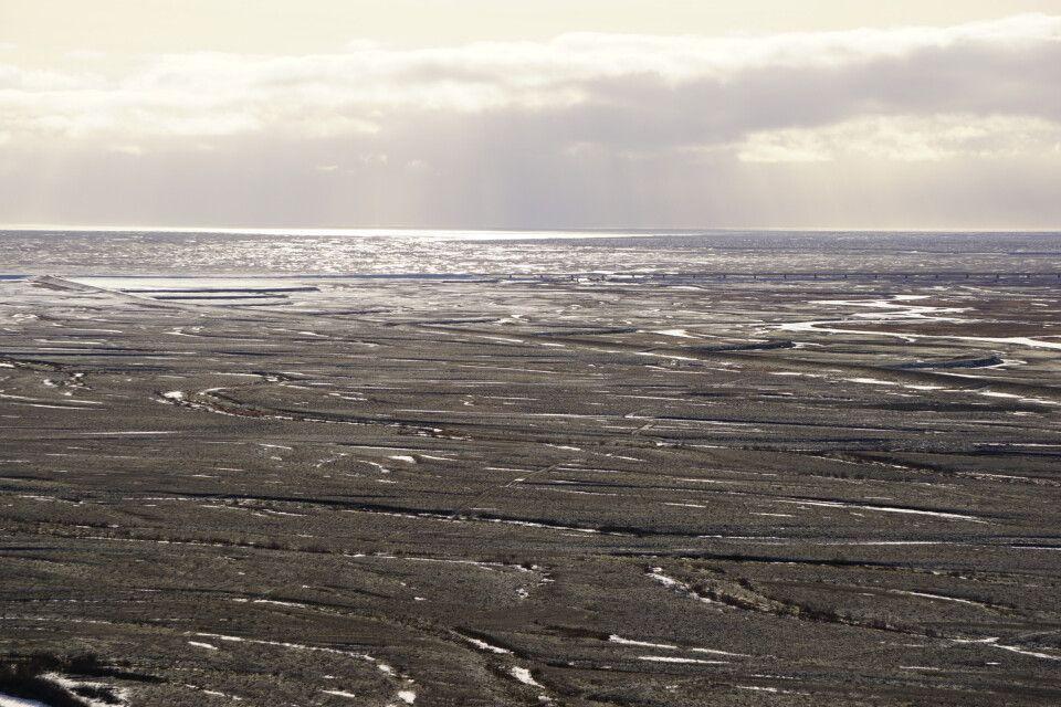 Die weitläufigen Sanderflächen im Süden der Insel