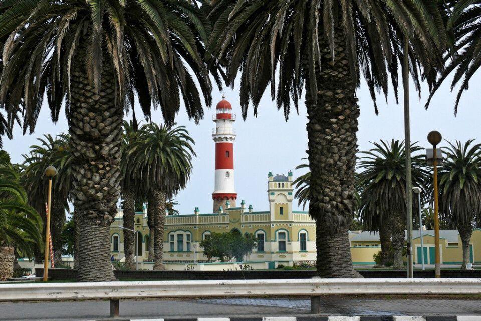 Der Leuchtturm der Küstenstadt Swakopmund